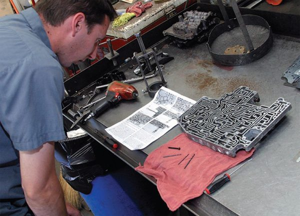 Even the most seasoned transmission tech needs to closely follow the shift improvement kit instructions. No two manufacturers have the same approach to shift improvement kits. Never mix parts from different kits, and always follow instructions.