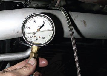 """Line pressure"" is just another way to describe hydraulic pressure. Screw this pressure gauge into the throttle valve pressure port on the passenger side and you get throttle valve pressure."