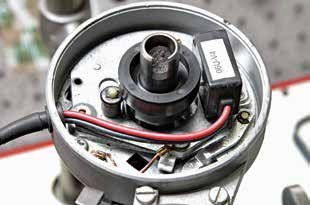Unless you're restoring a vintage Ford or classic Mustang, there's little point in using a breaker-style ignition. This drop- in electronic ignition is available from  Pertronix. The Pertronix Ignitor installs in less than 30 minutes and is easily hidden. It improves coil saturation and provides a hotter spark for easy starting and durability. Always remember to reinstall the internal ground lead. These units usually require a 12V feed, so you may have to bypass the pink resistor wire.