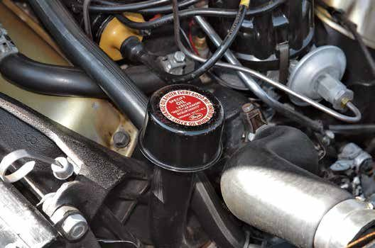 Early 221, 260, and 289 engines were fitted with a timing cover oil filler tube (the valvecover location came later). It is common to see engines built in the same time period with the timing cover oil fill and others with the valve-cover location.