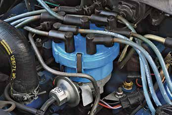 The Ford Duraspark ignition was introduced in 1973. Duraspark II arrived in 1977 with a larger distributor cap to handle the increased voltage. Duraspark went through many engineering changes during its production life. Each type of module is color-coded, which is intended to prevent erred installation. Duras-park consists of a module and a distributor fitted with a reluctor and shutter wheel, which perform the same role as breaker points. This is a Duraspark II distributor with the large-diameter cap for high-energy ignition. Note that the base diameter of the cap assembly is the same as on earlier units, and you can easily convert early distributors to this large-cap setup.