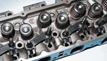 "The poly-angle-valve 351C cylinder head is legendary for its performance potential. If you can find the optimum combination of 351C-2V ports and 351C-4V chambers in an Australian Cleveland head, it's a great off-the-shelf cylinder head. Be advised: The Aussie Cleveland head is scarce and expensive. This is a North American 351C-4V head cast at the Cleveland foundry with a ""CF"" logo."