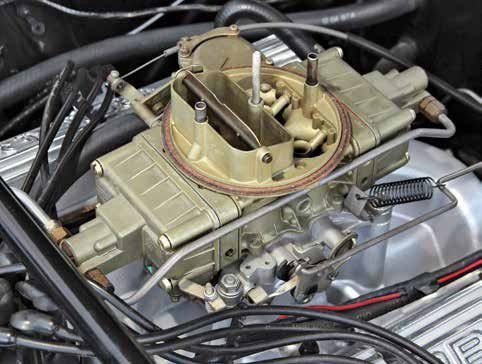 This is the Holley LeMans bowl 715-cfm carburetor specific to the 1965–1967 Shelby GT350 289 High Performance V-8. The Shelby Holley is a 4150-based carburetor with both primary and secondary metering blocks and vacuum secondaries, making it a true high-performance carburetor.