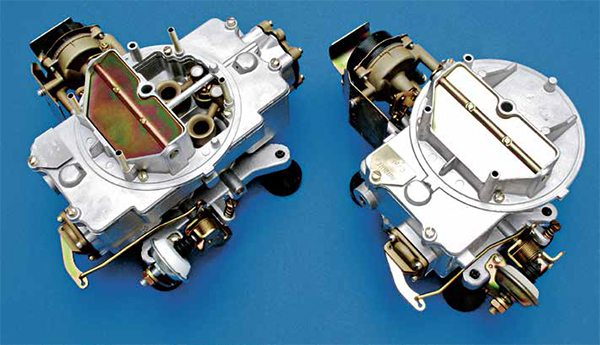 """This is the original Autolite 2100 and 4100 """"shoebox"""" carburetor family introduced in 1957. These carburetors have a simple, easy-to-service design virtually anyone can rebuild and have back on the manifold in an hour or two. It is believed these carburetors were designed and built by Holley; however, that has never been confirmed. They employ power valve and accelerator pump design similar to the Holley 1850/4150/4160."""