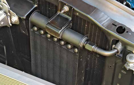 This is the oil cooler that is attached to the radiator support. The oil cooler is universal to both big- and small-blocks.