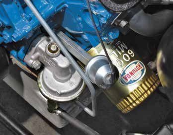 Beginning in 1966, Ford used an external in-line fuel filter at the car-buretor, eliminating it from the sealed Carter fuel pump.