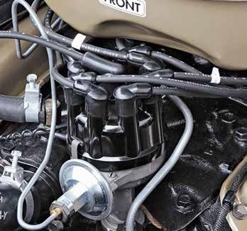 The 1964–up Autolite single-point ignition is devoid of an oil wick with a spiral shaft designed to carry oil from the engine to the bushings. Dual-advance distributors were hard lined to the carburetor until 1966.