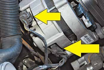 These are the three-pin multiplex plugs at the back of the 2G alternator. Many enthusiasts have stepped up to the internally regulated high-amp 3G alternator with great results. The 2G's biggest problem is undercapacity for what it is being asked to do. When you add corrosion issues at the plug you have big problems that you don't need.