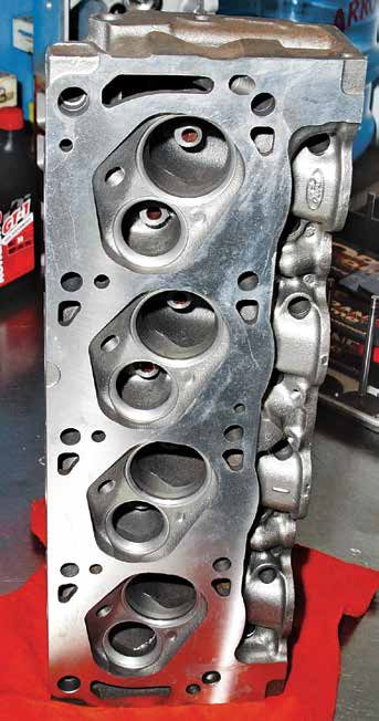 At a glance this cylinder head resembles a 351C-4V. However, you can tell that it is a Boss 302 casting by the missing cooling passages common to a 351C. Study the deck surfaces closely and you'll notice a 289/302 cooling passage pattern.