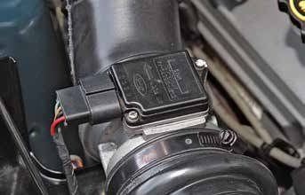 Beginning in 1988 on California cars and in 1989 on 49-state cars Ford went to the tunable mass-air system with this mass-air sensor. Speed density can be converted to mass air with help from Ford Racing, which offers an easy drop-in conversion kit.