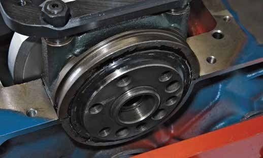 This is the one-piece rear main seal that arrived in December 1982 on all small-block Fords. To use a one-piece rear main seal block, you must use a crank devoid of the lip for a two-piece seal. Cranks with the seal lip can be machined down for a one-piece seal.