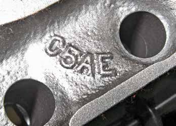 "This 289 cylinder head casting number is marked with ""C5AE,"" which means it's a 1965 Ford casting. Else-where on this particular head is ""289"" and ""65,"" which further confirms identification. Also expect to see an alphanumeric date code."