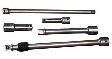 "Extensions of varying lengths, in 1/4-, 3/8- and 1/2-inch drives provide reach and leverage, thus making your ratchet or breaker bar more effective. Also available are ""wobble"" extensions that allow you to access fasteners from different angles."