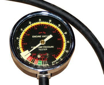 A vacuum gauge reveals engine problems. It is most useful for fine-tuning early carbureted engines. Summit offers a vacuum test gauge that may also be used to check fuel pump function.
