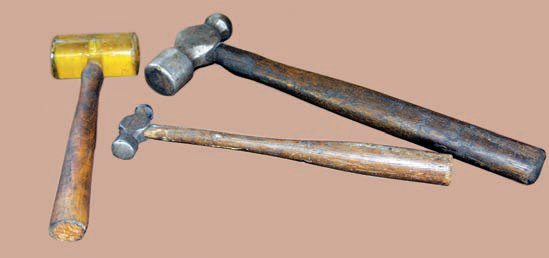 "Several types and sizes of hammers are handy when coaxing loose parts that have been in place for many years and exposed to the elements. However, don't fall into the trap of ""if it doesn't come loose, use a bigger hammer."" Think through tasks, use common sense, and follow proper procedures."