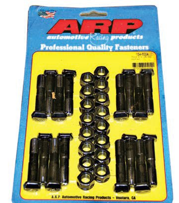 Discard the OEM connecting rod bolts and never reuse them. Bolts have a memory; if they have been stretched, they do not have the correct clamping force, so don't cut corners by reusing them. Use modern, high-performance replacement fasteners, such as these from ARP. I seldom reuse connecting rod bolts, especially in older engines. Take a moment to consider how many heating and cooling cycles as well as rotational forces these bolts have endured over the life of the engine, and the argument for replacement becomes crystal clear.