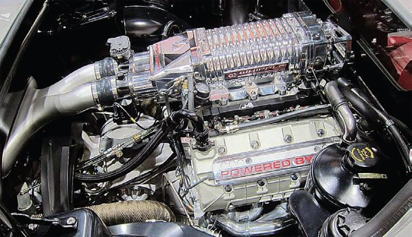 Even with a more-complex, late-model, fuel injected, small-block engine such as this 5.0L there is still plenty of room. This 1966 is easily able to accommodate the 5.0L (or a 347 or larger stroker engine), even with the late-model's serpentine-belt drive and related accessories. This is an extremely popular swap because it's fairly easy, not very costly, and it provides significant benefits in power and MPG.