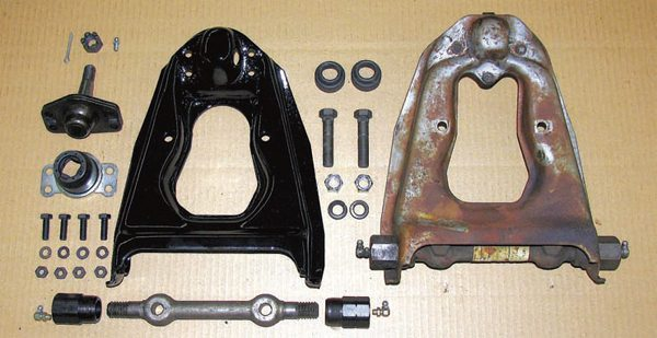 The stock upper control arms are generally suitable for a daily driver but they still can benefit from a few modifications. These Global West arms are the stronger four-bolt variety plus they utilize a revised bushing design with harder durometer rubber to reduce excessive and unwanted movement of the arm.