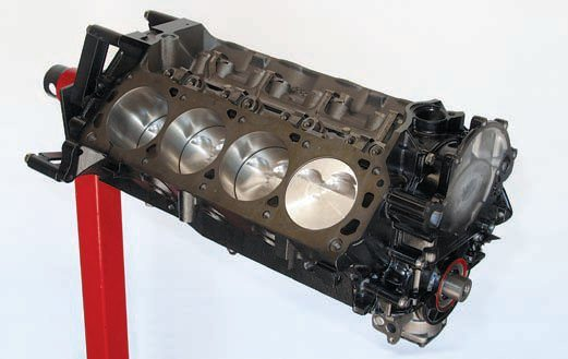 The classic Ford Windsor engine is the foundation for many high-performance small-block buildups. The aftermarket offers a high-performance replacement for every component of the engine. With the right rotating assembly, heads, cam and intake, this Windsor small-block can easily produce 600 hp without power adders. (Photo Courtesy George Reid)