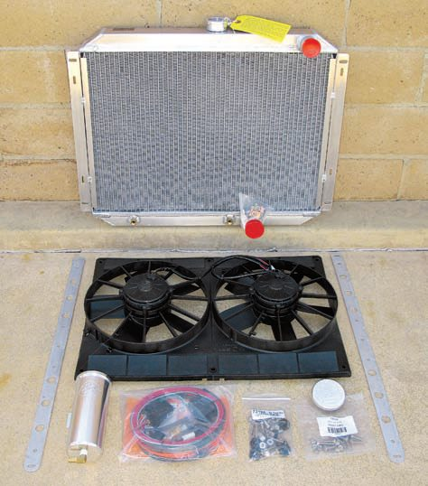 Be Cool offers cooling modules and complete kits for substantially improving cooling capacity. If your rebuilt or crate engine now produces twice the horsepower, you need twice the cooling capacity. Be Cool offers 300-hp-rated radiators and 1,000-, 700-, and 400-hp modules. The modules include high-capacity aluminum radiators, dual or single fans, and all wiring and other hardware.