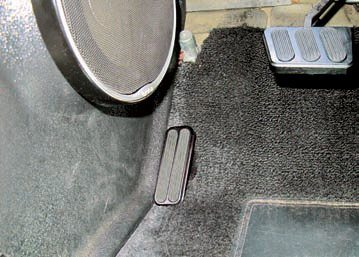 One feature on many newer sports cars that's sorely lacking from early Mustangs is a dead pedal. Aftermarket versions such as this Lokar product can make a significant difference in the driver's ability to remain stable while also being aesthetically pleasing. This custom-billet dead pedal matches the easily installed Lokar pedal set.