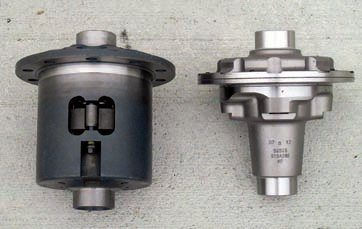 A Torsen differential for an 8.8-inch C-clip axle (left), compared with a TrueTrac differential for a 9-inch (right) illustrates the difference in size when C-clips are used. They are less desirable in performance applications because the clips can fail and result in the loss of an axle. The Torsen differential reduces the likelihood of this by employing a robust retention system (the forged-steel block in the access window) along with a very stout locking bolt. They're available in several versions (including the T2-R with serviceable clutch packs for racing) for many Ford axle applications, especially the 8.8-inch rear. They're virtually indestructible plus they're also maintenance free (except the T-2R race version).