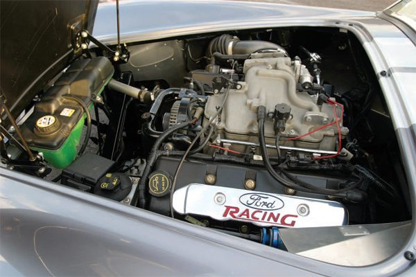 The 2003 Mustang Mach 1 engine had just 2,000 break-in miles when Ingerslev installed it in his Mk3 roadster chassis. This is a common donor vehicle for an FFR base kit. What is uncommon is the fact that Ingerslev found a 2003 Mustang Mach 1 with so few miles.