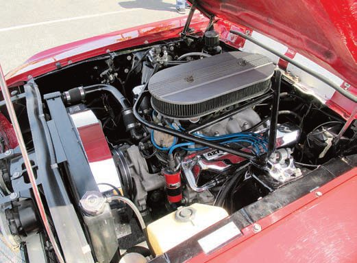 The larger 1967 and later cars were available with big-blocks so Windsors go right in, just like this 427W stroker tall-deck. This engine makes just a bit over 600 hp at the flywheel yet is totally streetable. When the NX plate system is activated, power exceeds 700 hp at the wheels. Reaching these numbers with a big-block is certainly possible but it likely costs more and adds more than 100 pounds to the front end. Making these numbers with a modular engine is much more difficult and costly because the shock towers must be cut. The 427W drops right in and can be further modified for more power and/or efficiency with EFI and other mods.