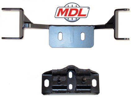 In some cases the original transmission crossmember can be reused by simply drilling new holes in it because the transmission mount is only moved about an inch. This is acceptable if the power level hasn't been increased too much. If your original crossmember doesn't work, there are plenty of aftermarket alternatives such as this one from MDL. It's intended for mounting a Tremec TKO in a 1967/1968 Mustang. The metal is thicker and a higher grade. These features plus the gusseted dual-shear design make for a very strong crossmember. The slots for the transmission mount are elongated to work with OEM/rubber mounts (shown) or stronger and safer polyurethane mounts. (Photo Courtesy Modern Driveline)