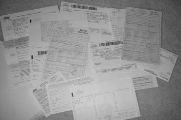 "Here's a pile of paperwork and letters I have left over from the seven-month process I had to endure when I tried to register a car without a ""clear"" title."