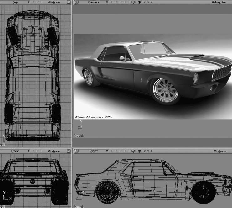Before spending a ton of time and money on serious modifications, you should contact an artist who can put your ideas down on paper and into a computer. Kris Horton modeled this drawing in 3D on a computer for Robyn Schluter. (Image courtesy CarsByKris.com)