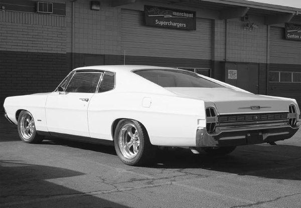 Some cars come from the factory with large fenderwells. This '68 Galaxie 500XL doesn't need fender flares unless you want more than 11–1 ⁄2 inches of rubber under the quarter panels.