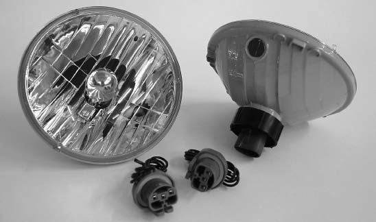 This Bright Driver headlight kit is a step above standard glass halogen headlights and delivers brighter and safer driving light. These lights are a simple bolt-in upgrade (without modifications), and they are almost a pound lighter than stock lights. They are also made of materials 30 times more rock-resistant than glass, have moisture-proof features, and have available replaceable bulbs. (Photo courtesy Detroit Speed & Engineering)