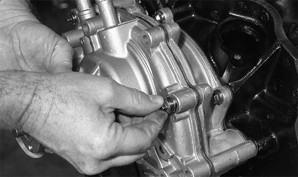 Mark uses a Milodon high-flow water pump on all of his engine builds for best results. He likes the affordable nature of this pump, plus its very effective operation. Order from Trans Am Racing.