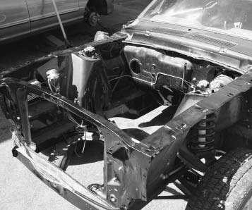 The Mustang was designed to be lightweight. The unibody front structure is not very strong without fenders attached. Don't forget to install all the fendermounting bolts because the fenders tie the sheetmetal together as a unit.