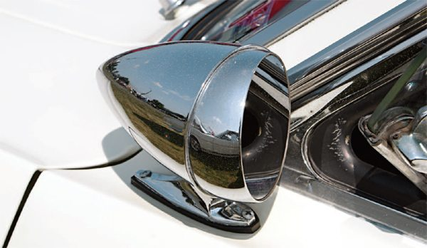 "As early as March 1965 (before planning for the 1966 GT350 began in earnest), Shelby American considered adding an outside mirror to the car. Investigation revealed that the Ford/Rotunda accessory ""bullet"" mirror, which cost Shelby American a buck and a half, would do nicely. The mirror was not a Mustang Regular Production Option (RPO) so was only available as a dealer-installed accessory for the Ford Mustang."