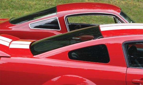 It was not unusual for styling features of the Shelby Mustangs to be adapted to Ford Mustangs of a model year or so later but in the case of the 1966 Shelby's quarter windows, they showed up on Mustangs almost four decades distant. When Ford unveiled its retro 2005 Mustang, it had 1966 Shelbylike quarter windows that looked neat. When Shelby produced the 2006 Shelby GT-H and Ford the 2007–2009 GT500, they fit to a T.