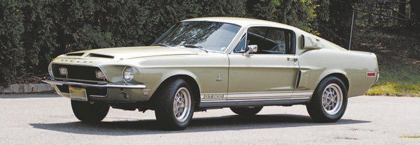 Lime Gold returned to the 1968 Shelby color availability list, although its use had dropped to an even tenth of the production (as opposed to almost a quarter of the 1967 production).