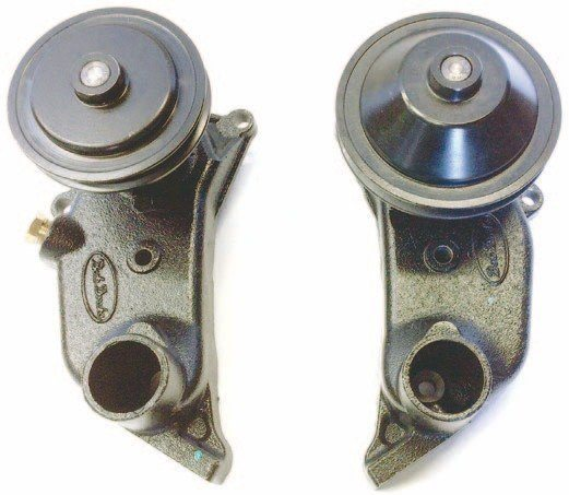The 8BA water pumps were fitted in 1949–1953 cars, 1953 Ford trucks, and 1952–1953 Mercurys. Both wide and narrow belt pulleys were used.