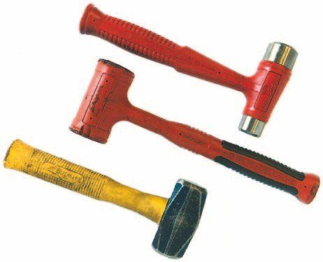 A selection of hammers (brass, rubber, and steel) is invaluable and essential, because most flatheads take some persuading to get apart. The top hammer, with interchangeable heads, is ideal for many tasks, including pushing home the crankshaft rope seals.