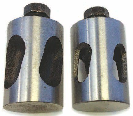 Manufacturers of adjustable lifters include Red's Headers, Comp Cams, Dennis Carpenter, Bob Drake, H&H, and Isky. Those with notches are known as hollow body. They weigh 80 grams each and are tested to 60 HRC on the Rockwell hardness scale.