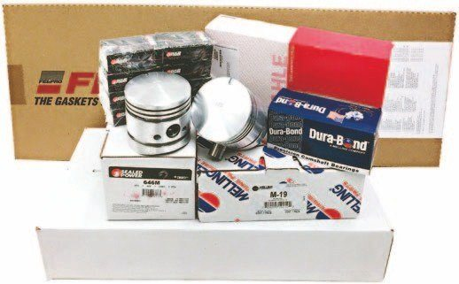 One of the companies supplying rebuild kits for the 1949–1953 flathead is Northern Auto Parts. Its Master kit includes Federal Mogul stock-style pistons, Sealed Power stock-style piston rings, Federal Mogul stock-style rod and main bearings, Durabond stock-style cam bearings, a Melling stock-style oil pump, and a Fel-Pro stock-style gasket set. All for a little more than $600. (Photo Courtesy Northern Auto Parts)