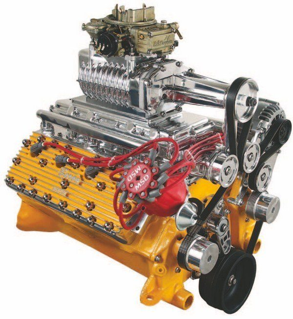 TR Designs developed its kit around the Magnuson supercharger and a serpentine belt system. The kit is comprehensive and includes water pumps and a new cast-aluminum timing cover. An intercooler is available separately. (Photo Courtesy TR Designs)