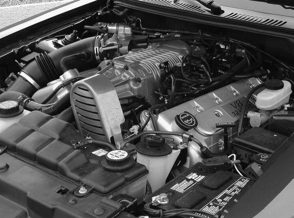The fall 2002 release of the Eaton-supercharged SVT Mustang Cobra really rocked consumers with the Gen V Eaton–supercharged and intercooled 4.6L DOHC modular V-8. This rocket ship was capable of producing 390 hp and 390 ft-lbs of torque, although most seasoned auto writers felt that Ford was being VERY conservative about the horsepower figures.
