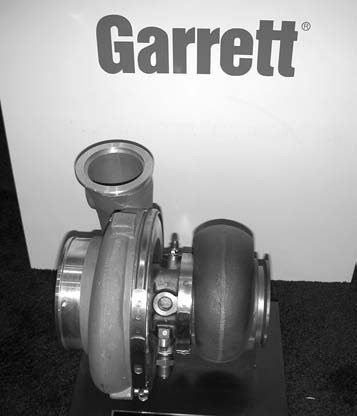 "Garrett's quick-spooling GT-45R model is ideal for 4.6L to 8.1L engine displacements. This turbo produces between 600 and 1,200 hp, depending on the engine installation. The ""R"" connotation stands for ""race only."""