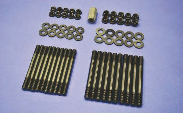 A nice option is to stud your Coyote block's main caps for improved durability. ARP and/or Ford Performance can help with main stud packages engineered to hold things together under extreme conditions. These engines are already rugged and use factory torque-to-yield fasteners. Studding the block makes them virtually indestructible.