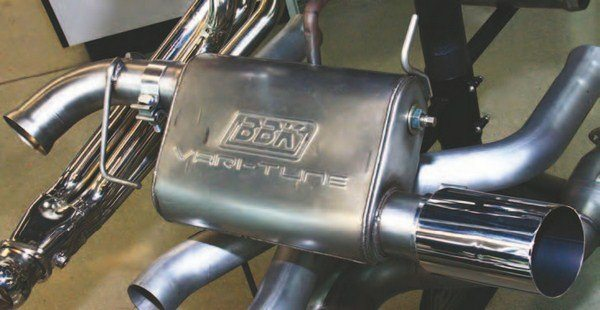 This is the BBK Performance Vari-Tune muffler, which enables you to custom tune the mufflers without swapping mufflers. You can tune both flow and noise levels with this feature, then dyno tune.