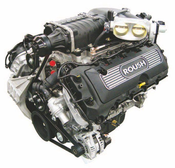 Roush gives you the whereby to get into a complete 5.0L RSC ROUSHcharger crate engine starting at $18,975. Bank on at least 600 hp. Moreover, you get a Ford Performance Aluminator 24-month/24,000-mile warranty. (Photo Courtesy Roush Performance)